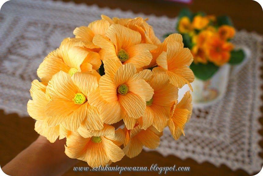 Jak Zrobic Kaczence Z Krepiny Kurs Paper Flowers Paper Flowers Diy Paper Flowers Craft