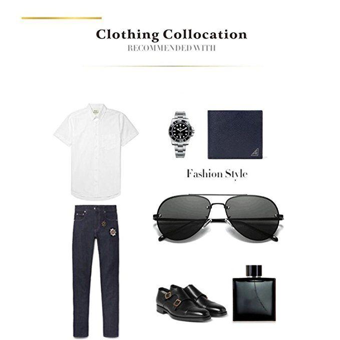 bb2d359e3de Amazon.com  Classic Polarized Aviator Sunglasses for Men Women Sports  Unisex Sun Glasses UV (Color 1 Black Black)  Clothing