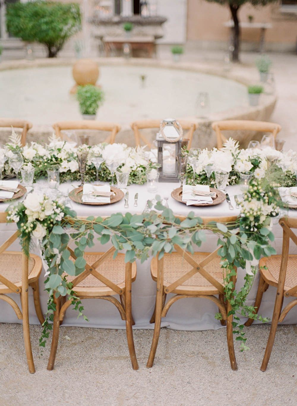 Charlotte Simpson Outdoor Wedding At Chateau De Massillan In Provence.  Chair BacksWedding TablesBride GroomRustic ...