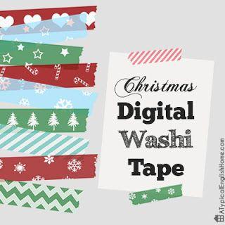 A Typical English Home: Christmas Digital Washi Tape ...