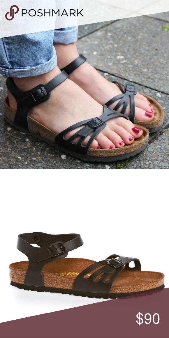 NWT Birkenstock Bali sandals in box (black) I ordered these