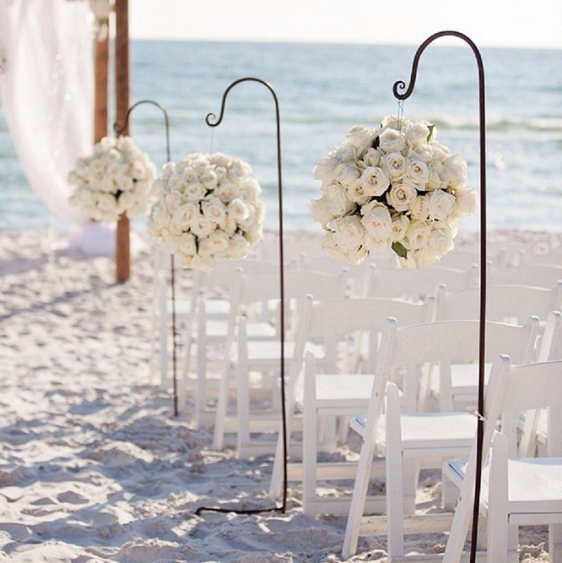 A Modern Glam Sparkle And White Destination Wedding Beach Decorationswedding