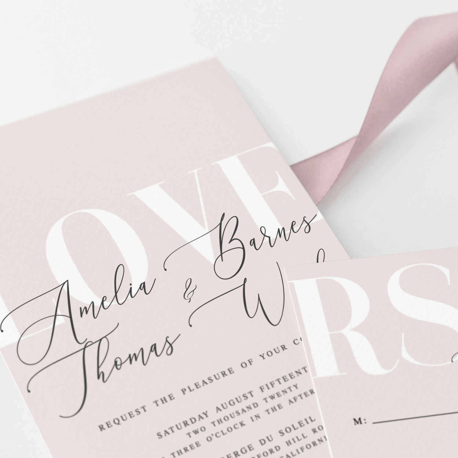 You Re In Love With Your Wedding Stationary And Now That You Ve Picked Out Something Go Rose Wedding Invitations Blush Wedding Invitations Wedding Invitations