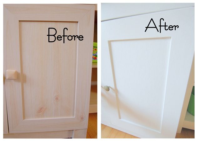 You CAN paint laminate furniture! Doing this to our bathroom cabinet ASAP.