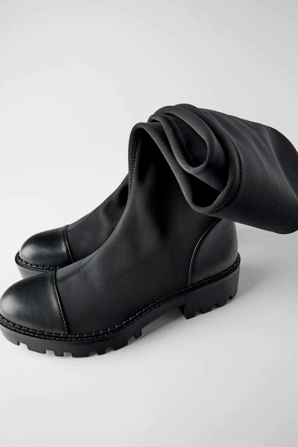 Track Sole Tall Boots Shoes Trf Zara Slovenia Boots Lug Sole Boots Black Leather Ankle Boots [ 1500 x 1000 Pixel ]