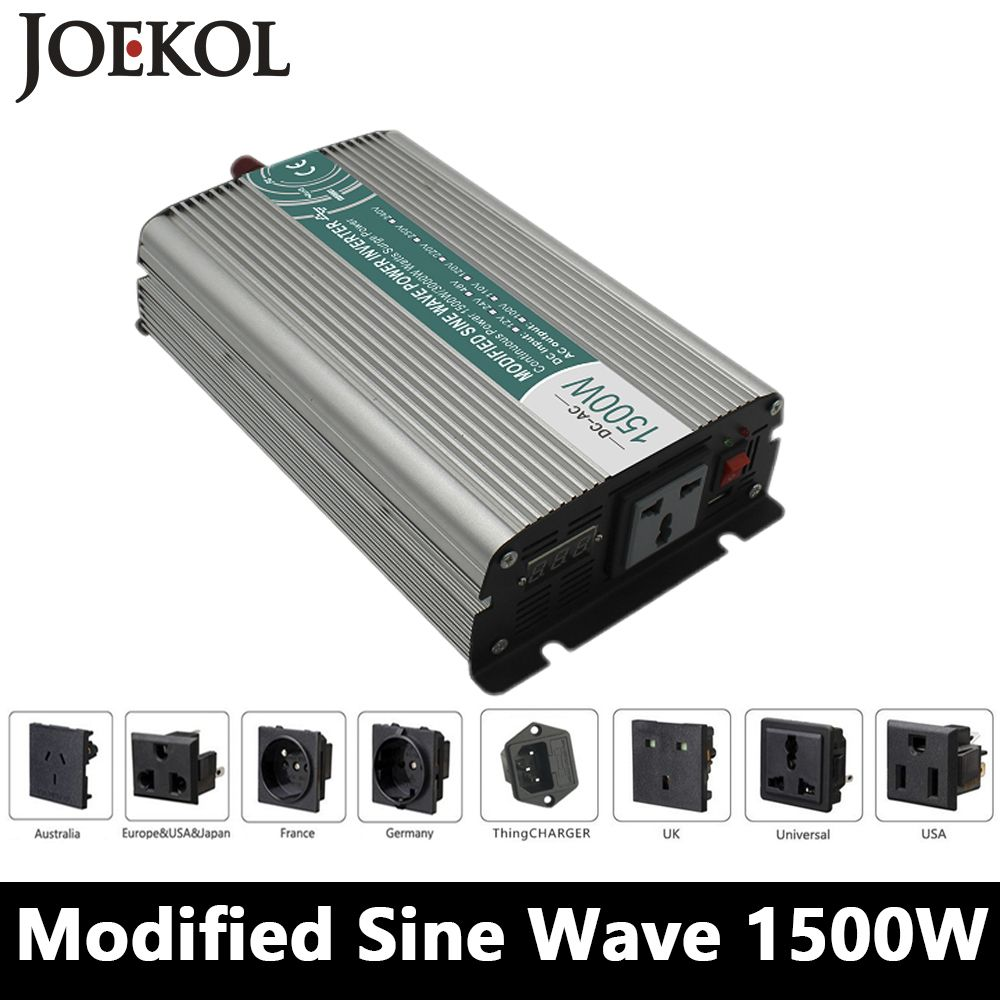 Charger Car Solar Power Inverter High Power 12V DC To 110V AC Modified Sine Wave