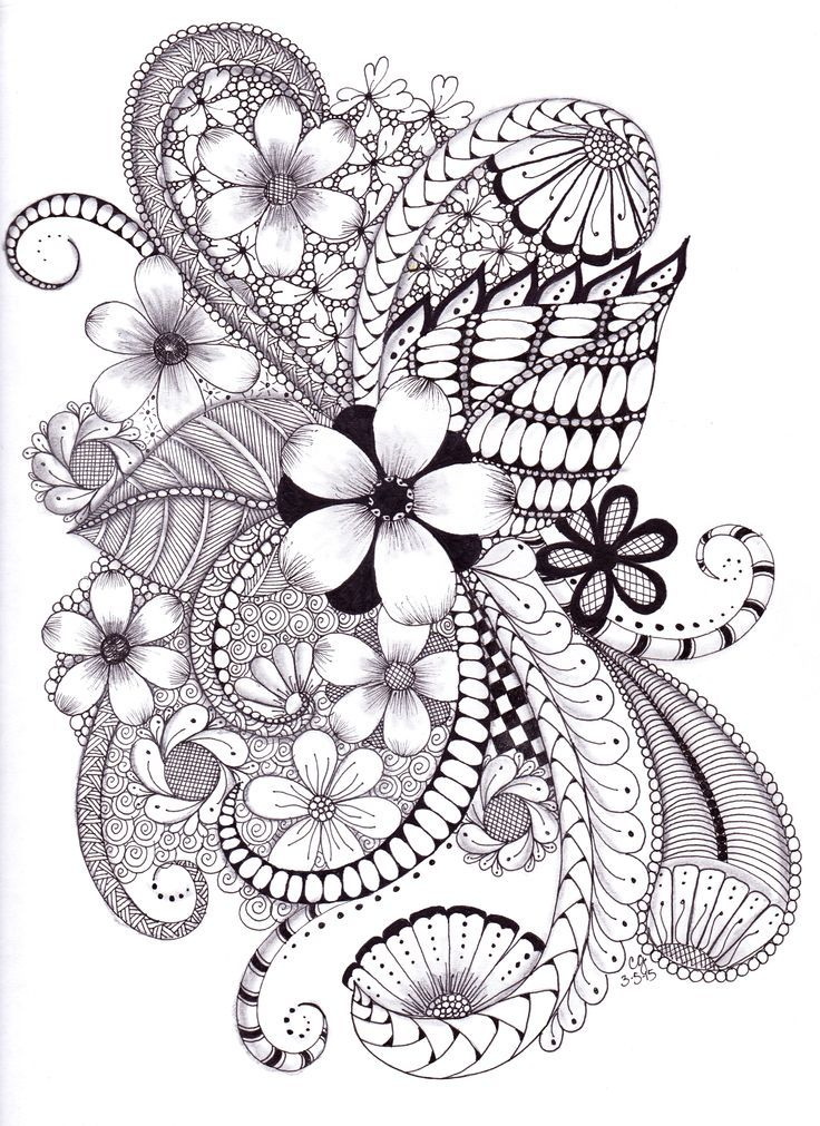 Shading with Pen….or what I do with those Old Microns | Zentangle ...