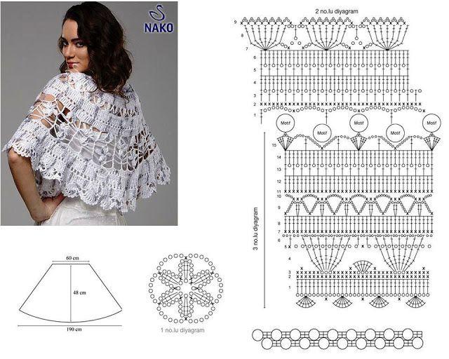 CHALES Y CAPAS A CROCHET CON PATRONES | Patrones Crochet ...