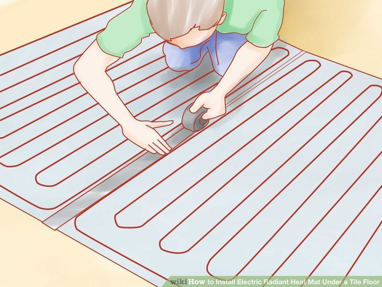 Image Of How to Install Electric Radiant Heat Mat Under a Tile Floor
