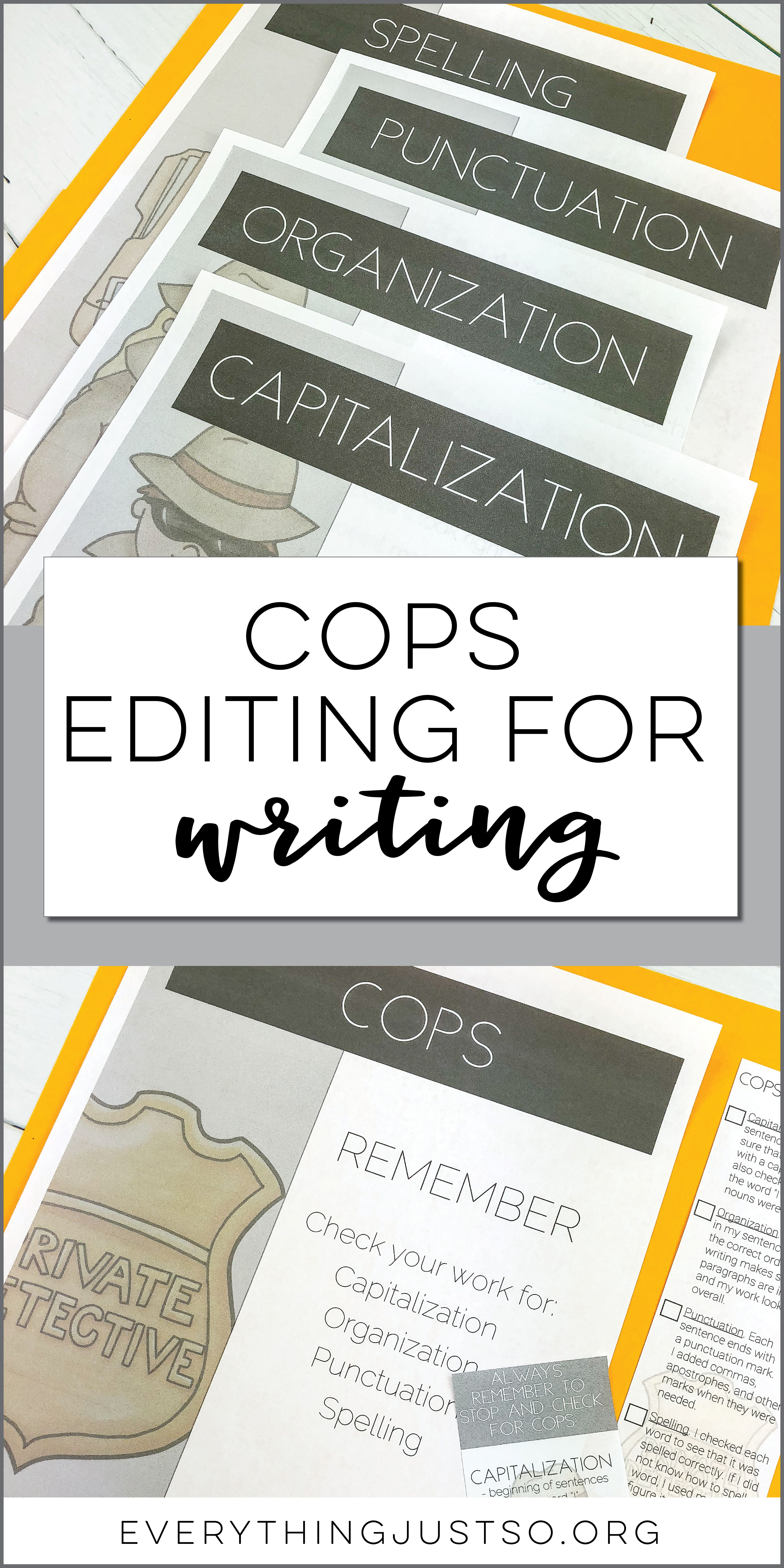 Cops An Editing Tool For Writing
