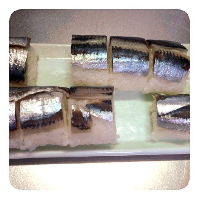 鯖寿司ならぬイワシ寿司。 - 8件のもぐもぐ - イワシ寿司 by kyuko