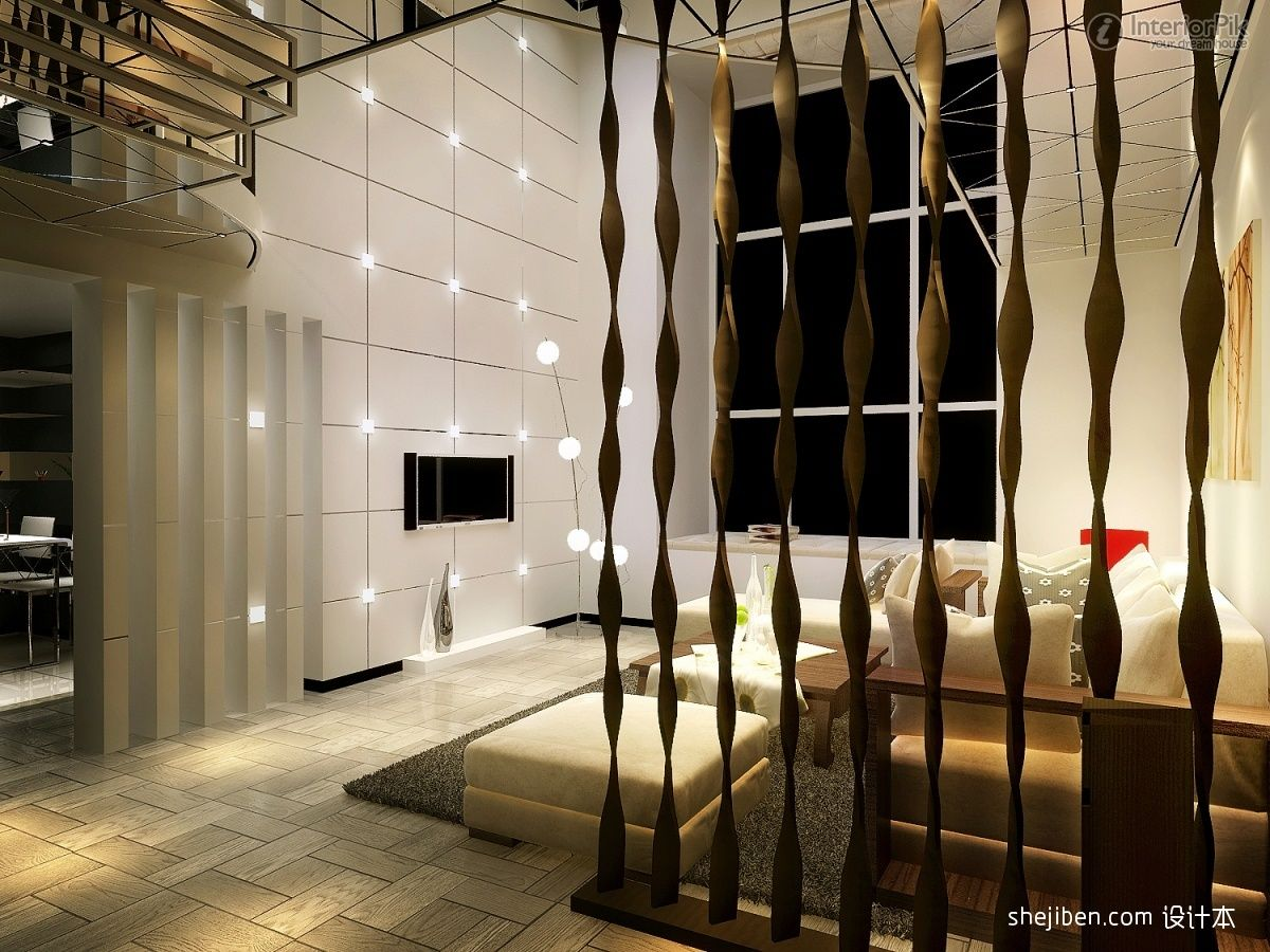 Living room dividers partitions decoration effect picture for Living room partition