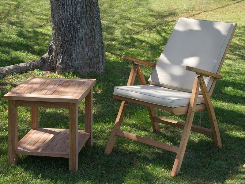 Mesita auxiliar de madera de teca mesitas auxiliares - Baules para exterior ...