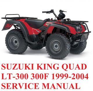 suzuki king quad lt 300 300f 1999 2004 shop workshop service repair rh pinterest com 2002 Suzuki Quadrunner 500 1999 suzuki quadrunner 500 repair manual