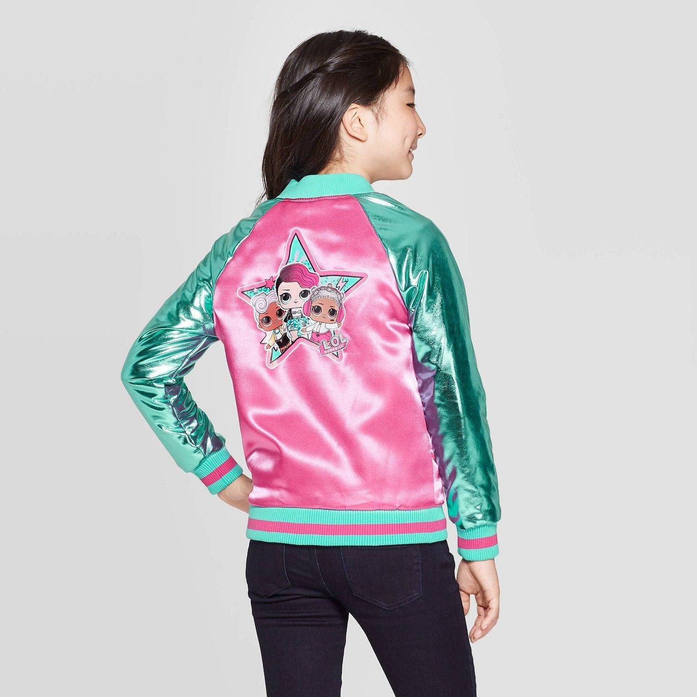 Girls L O L Surprise Go Team Glitter Track Jacket Pink Affiliate Team Spon Surprise Girls Jackets Track Jackets Snap Front Jacket [ 1400 x 1400 Pixel ]