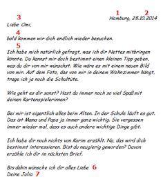Einen Privaten Brief Schreiben Beispiel Für Den Aufbau Deutsch
