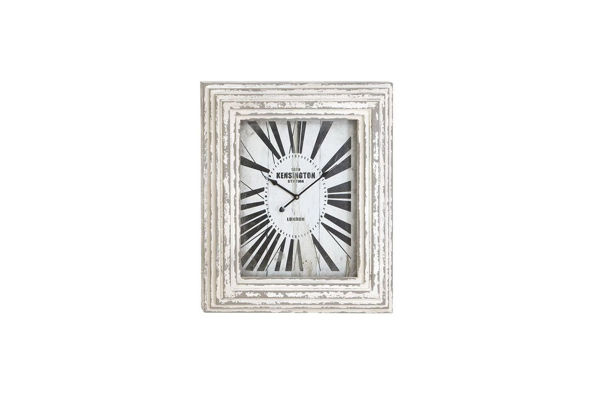 London inspired whitewash wall clock by uma wall decor pinterest