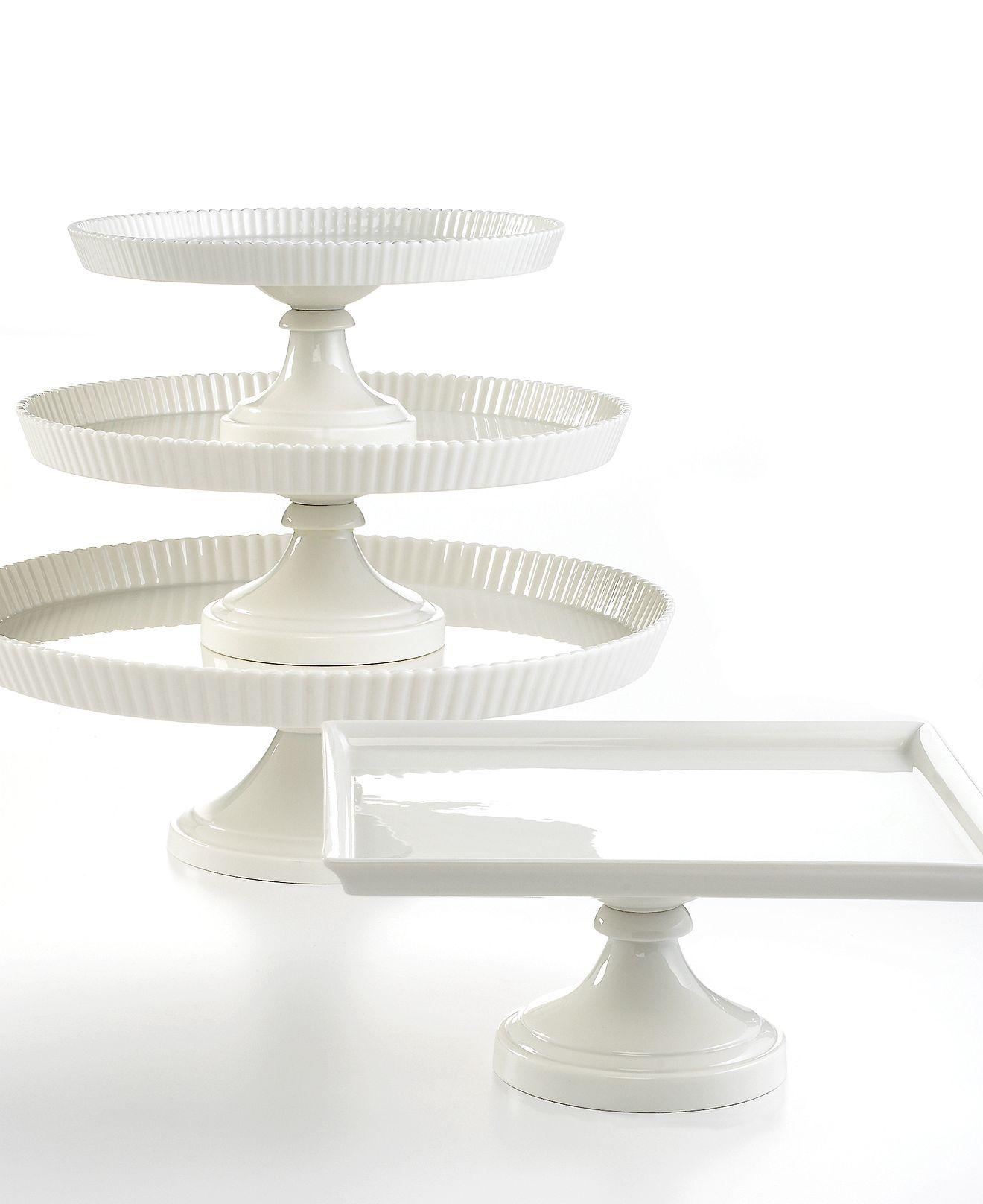 Martha Stewart Collection Whiteware Cake Stands