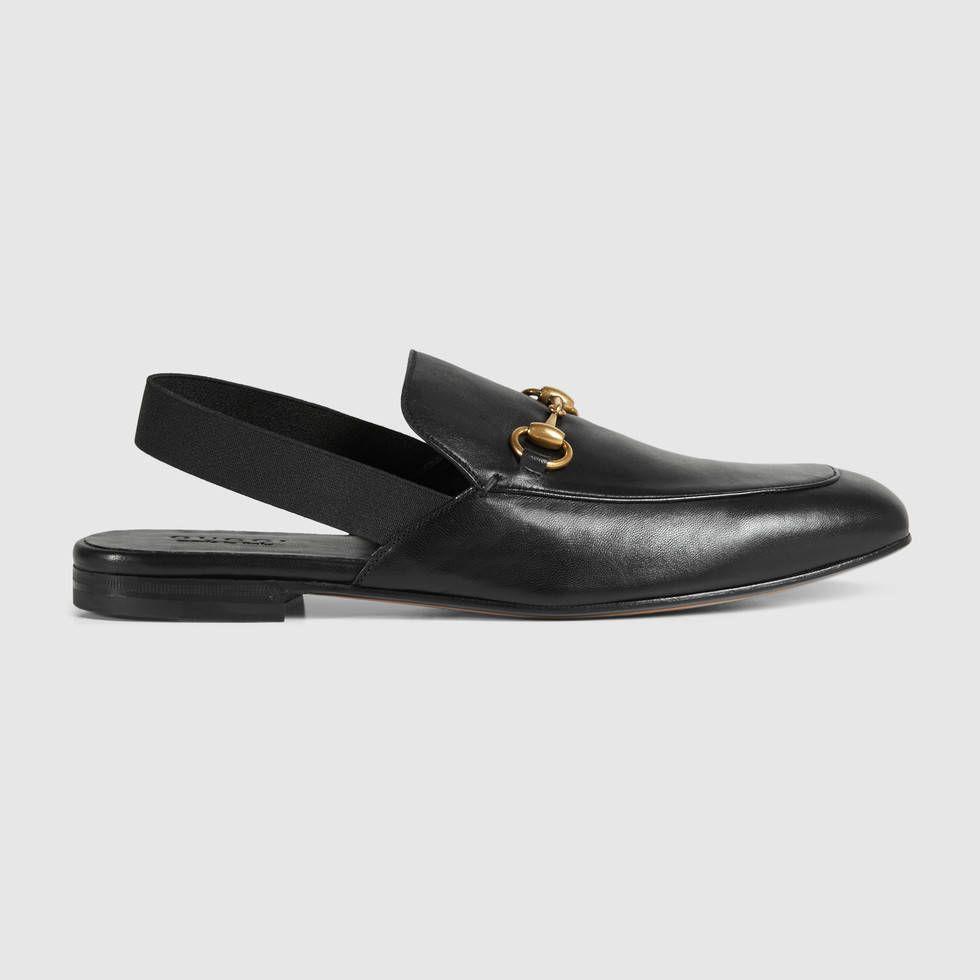 1c135852e61 Gucci leather horsebit slingback