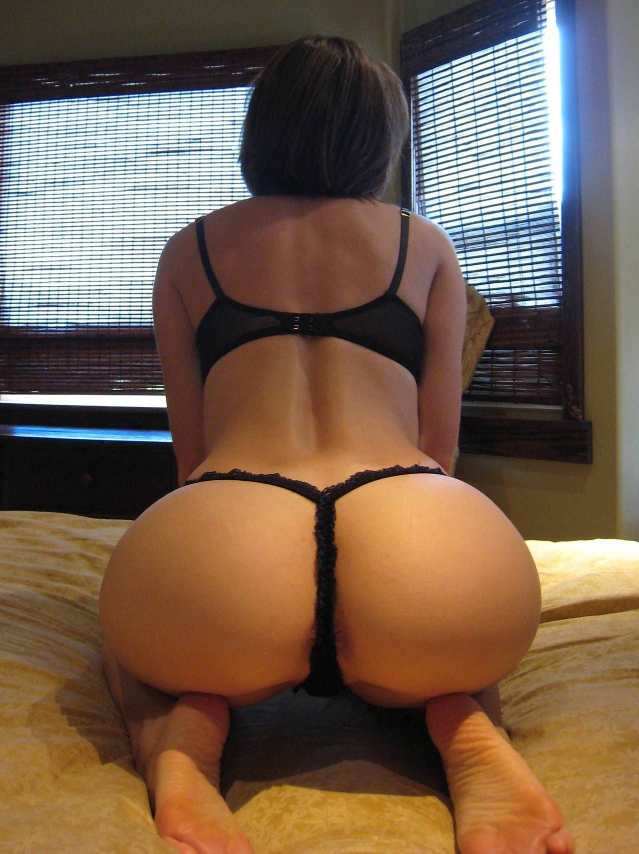 Big black ass in g string