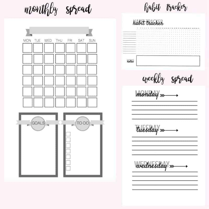 It's just a graphic of Eloquent Free Bullet Journal Printables 2020 Pdf