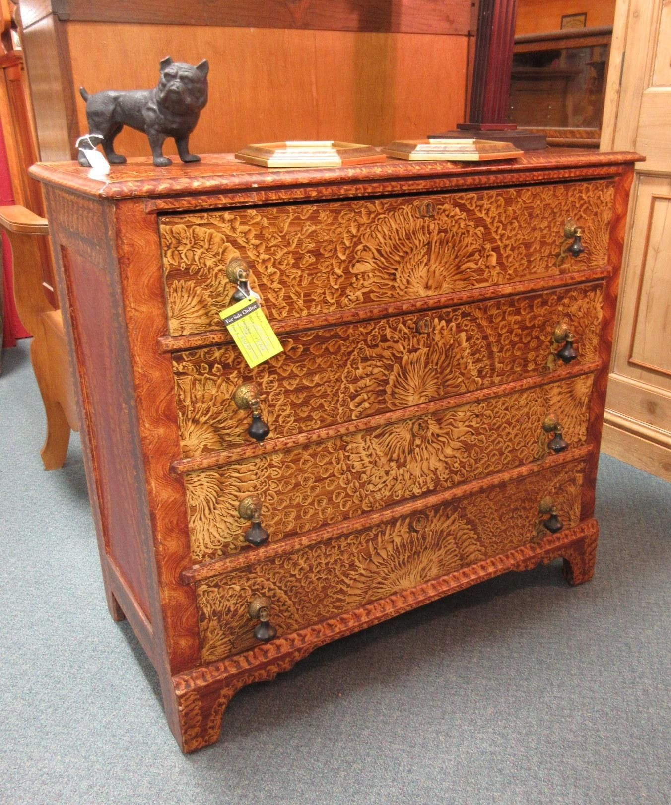 Drawers - Early Faux Chest Of Drawers. From Vendor 25 In Booth 249. Priced At