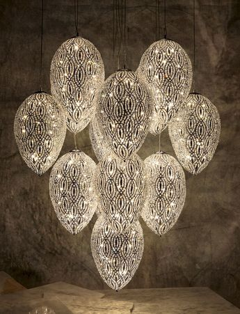 Glass chandelier EGGS ARABESQUE by VGnewtrend