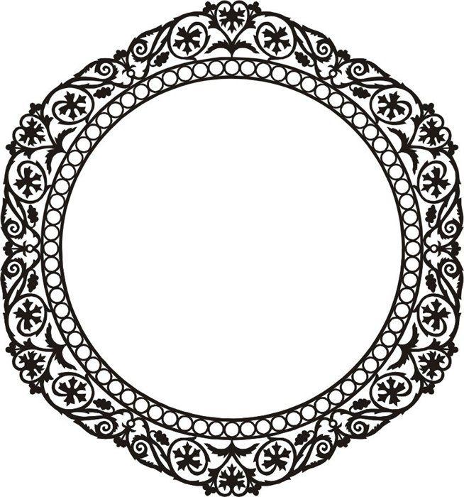 круглая рамка для фото онлайн