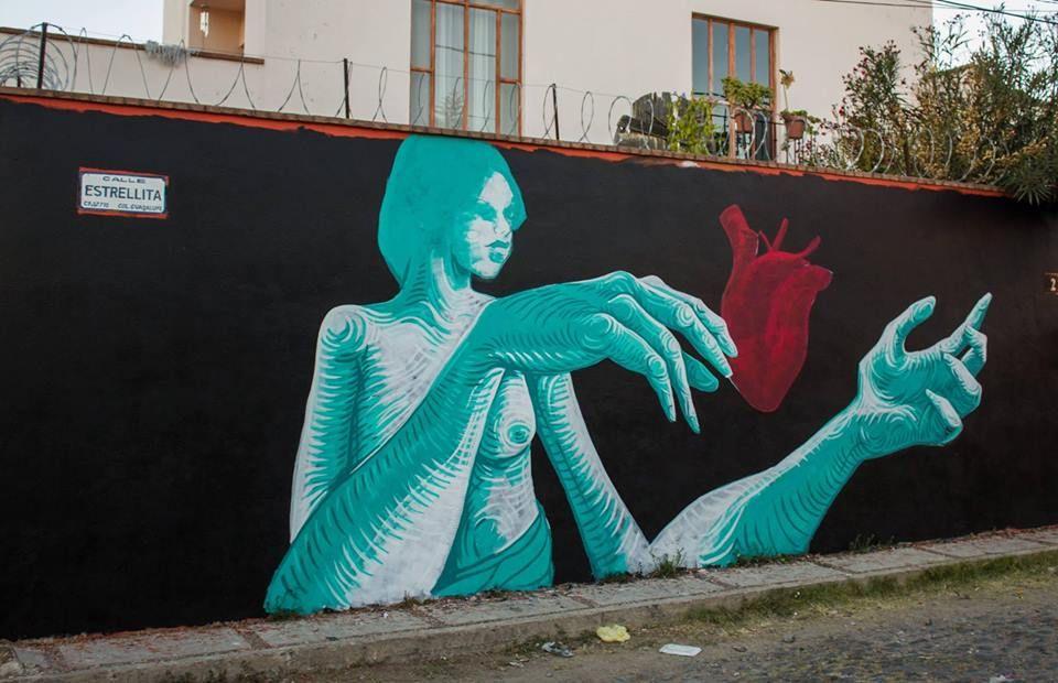 Gran OM & El Dante for Muros en Blanco in San Miguel de Allende, Mexico, 2016