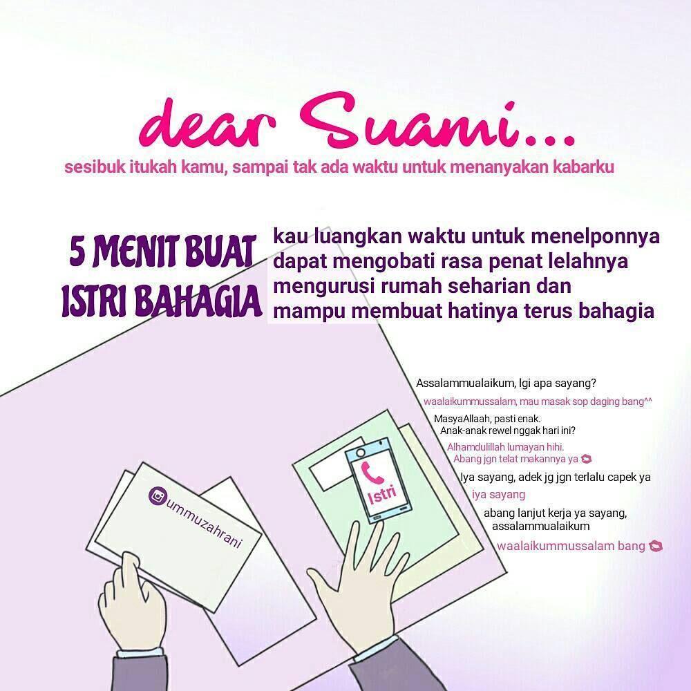 Fiqih Muslimah On Instagram Dear Suami Sesibuk Apapun Dirimu