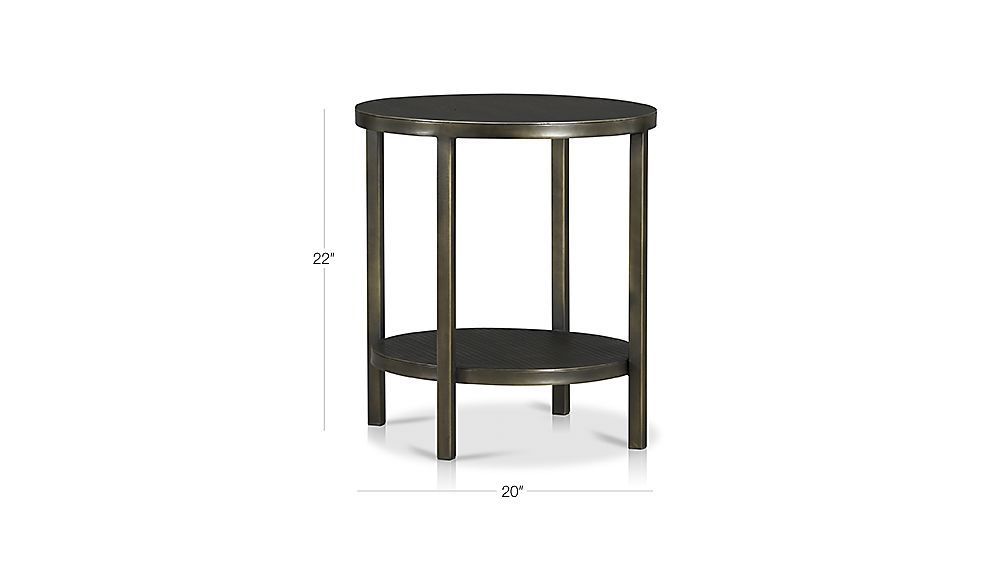 Form and function converge in a handcrafted metal table that exhibits artisan-crafted details.  Sleek in design and intricate in detail, bronze-colored Echelon is warmed by golden undertones and is hand-finished to create an etched appearance.  IronDark bronze hand-finish with gold undertonesPowdercoat and protective lacquer finishMade in India.