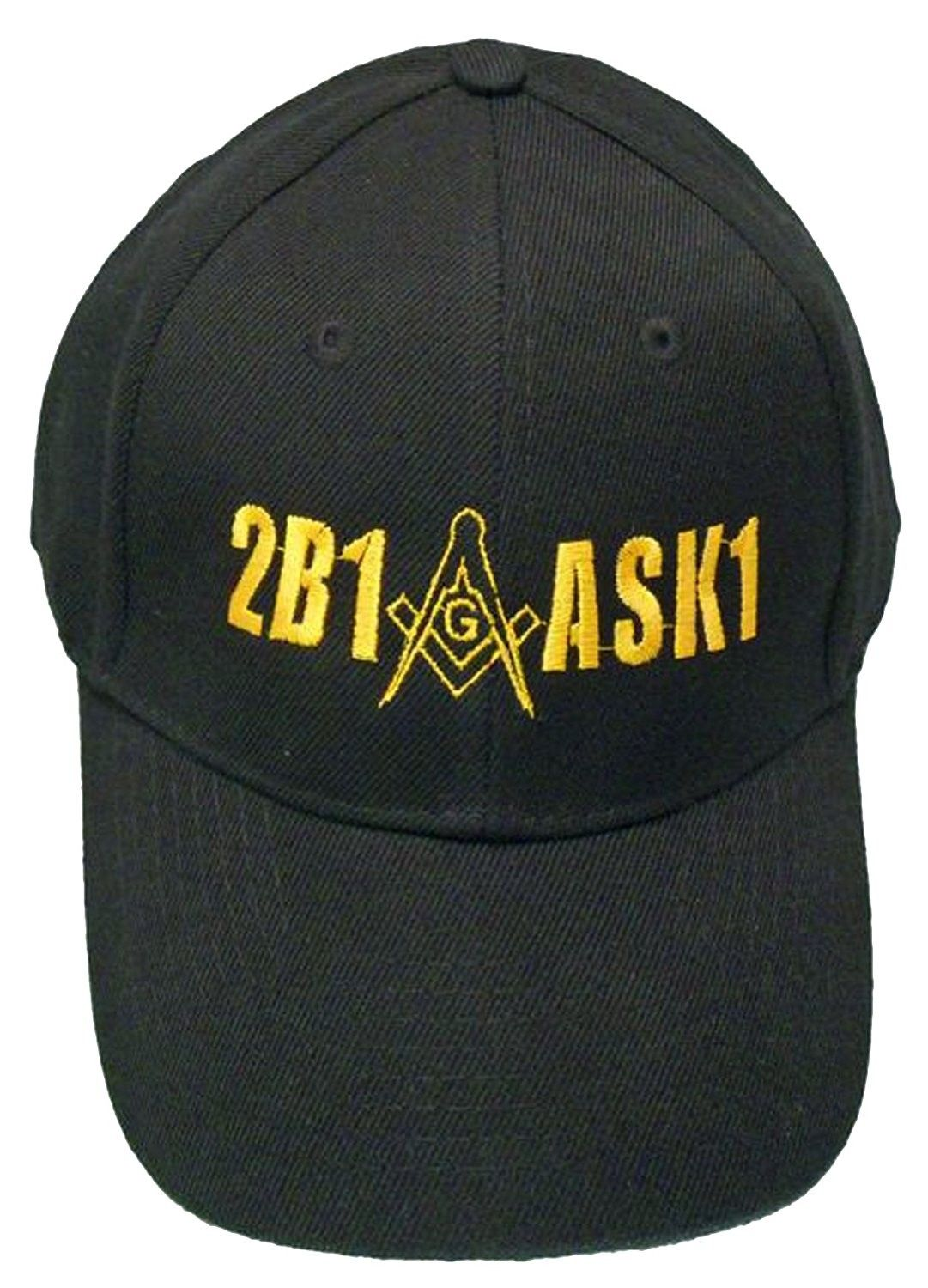 a9bffeb4fc5 2B1ASK1 Mason Baseball Cap 2B1 ASK1 Freemason Black Hat Mens - C611YGG3PR1  - Hats   Caps