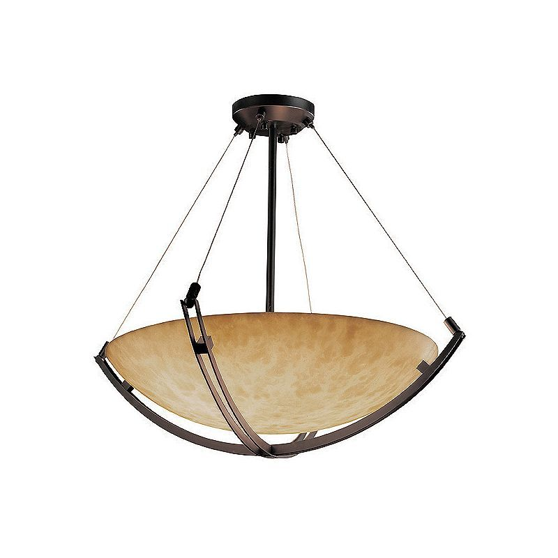 """Justice Design Group CLD-9722-35-LED-5000 Clouds 24"""" Round Bowl LED Pendant"""