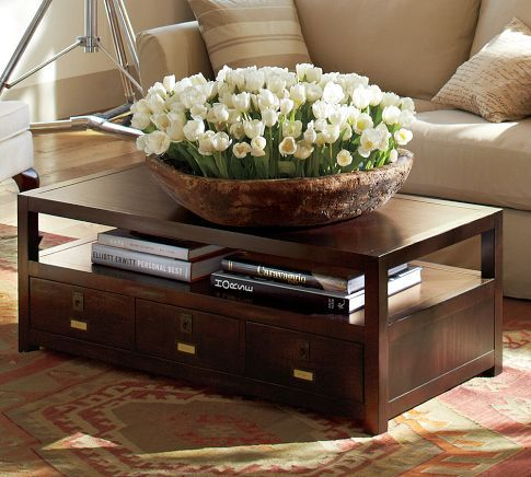 Pottery Barn Coffee Table With Drawers CoffeTable