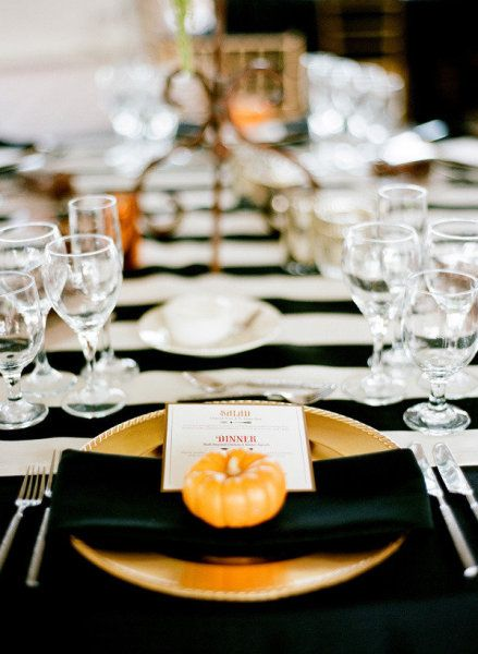 Grown-up Halloween party tablescape - simple and elegant