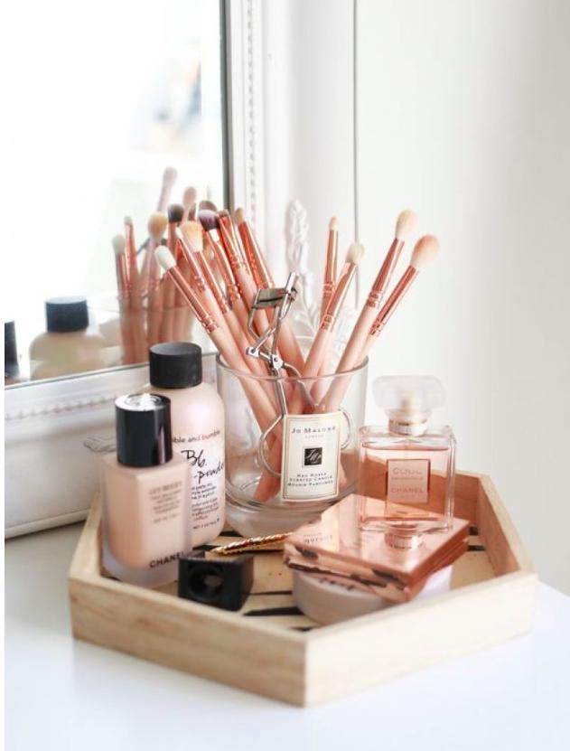 Ideias diferentes e criativas para guardar as suas maquiagens