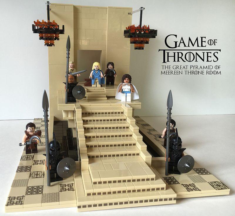 LEGO MOC of the Week - GoT: Meereen Throne Room by Nick Schumann