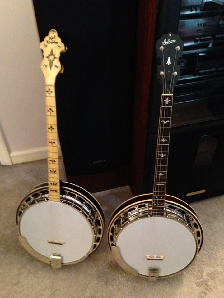 Pair of pre-wars waiting to be converted from 4 strings to 5.