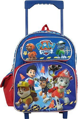 NEW PAW PATROL PUPPY Luggage Small Toddler Rolling Backpack Bag ...