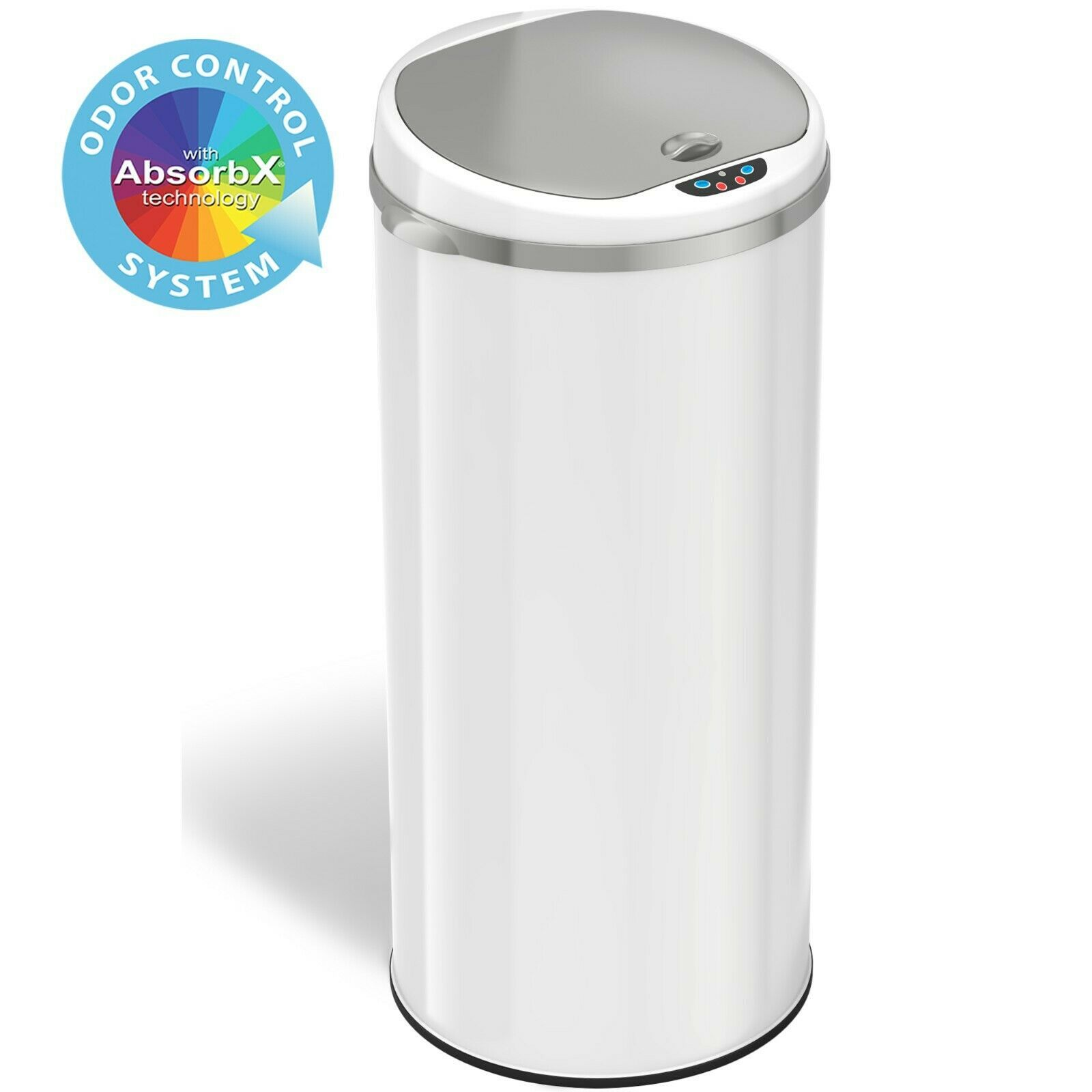 Touchless Automatic Sensor Trash Can 10 3 Inch Opening Multiple Size Options Ebay Bathroom Trash Can Trash Cans Brushed Nickel Bathroom