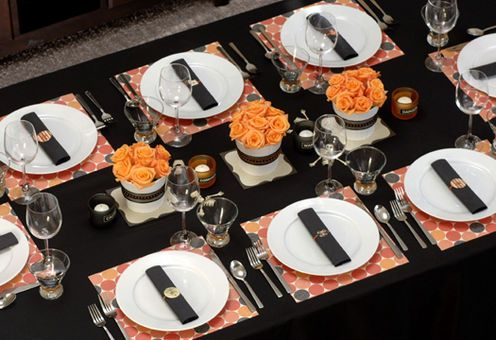 Halloween dinner party decorations _ Decoraciones para fiesta de - halloween party centerpieces ideas