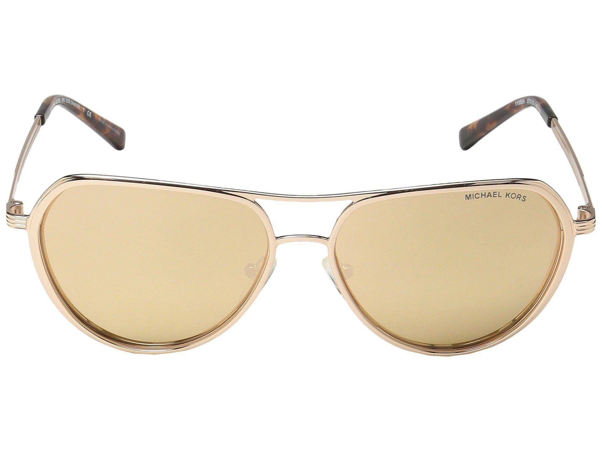 746ebd04b7f3 Michael Kors Madrid Gold   Gold Lens Mirror Sunglasses – shadesdaddy