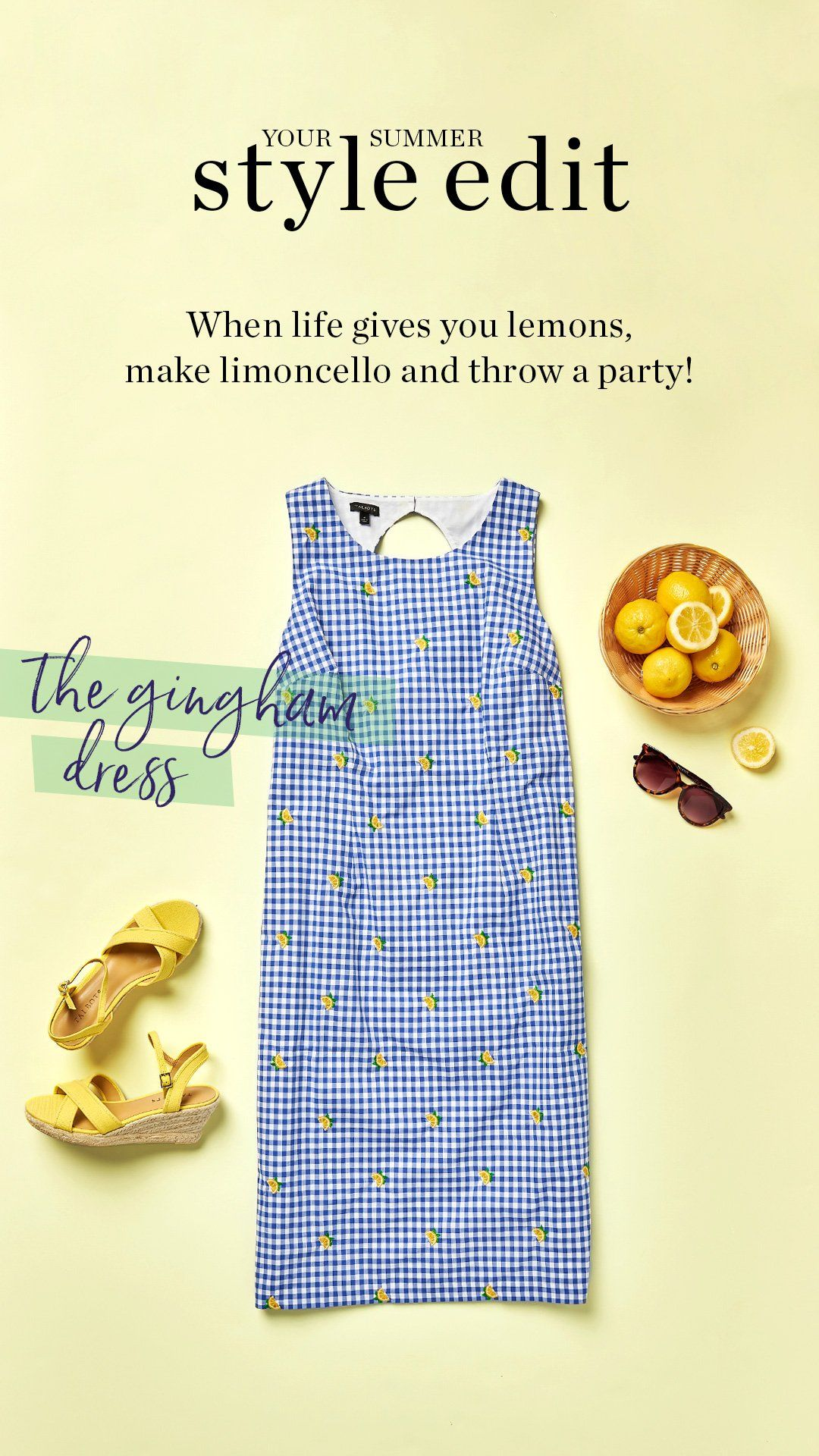 Embroidered Lemons Add A Whimsical Touch To This Classic Gingham Shift Dress Wear It With Your Hair Up To Show Off The Pre Shift Dress Dresses Talbots Outfits [ 1920 x 1080 Pixel ]