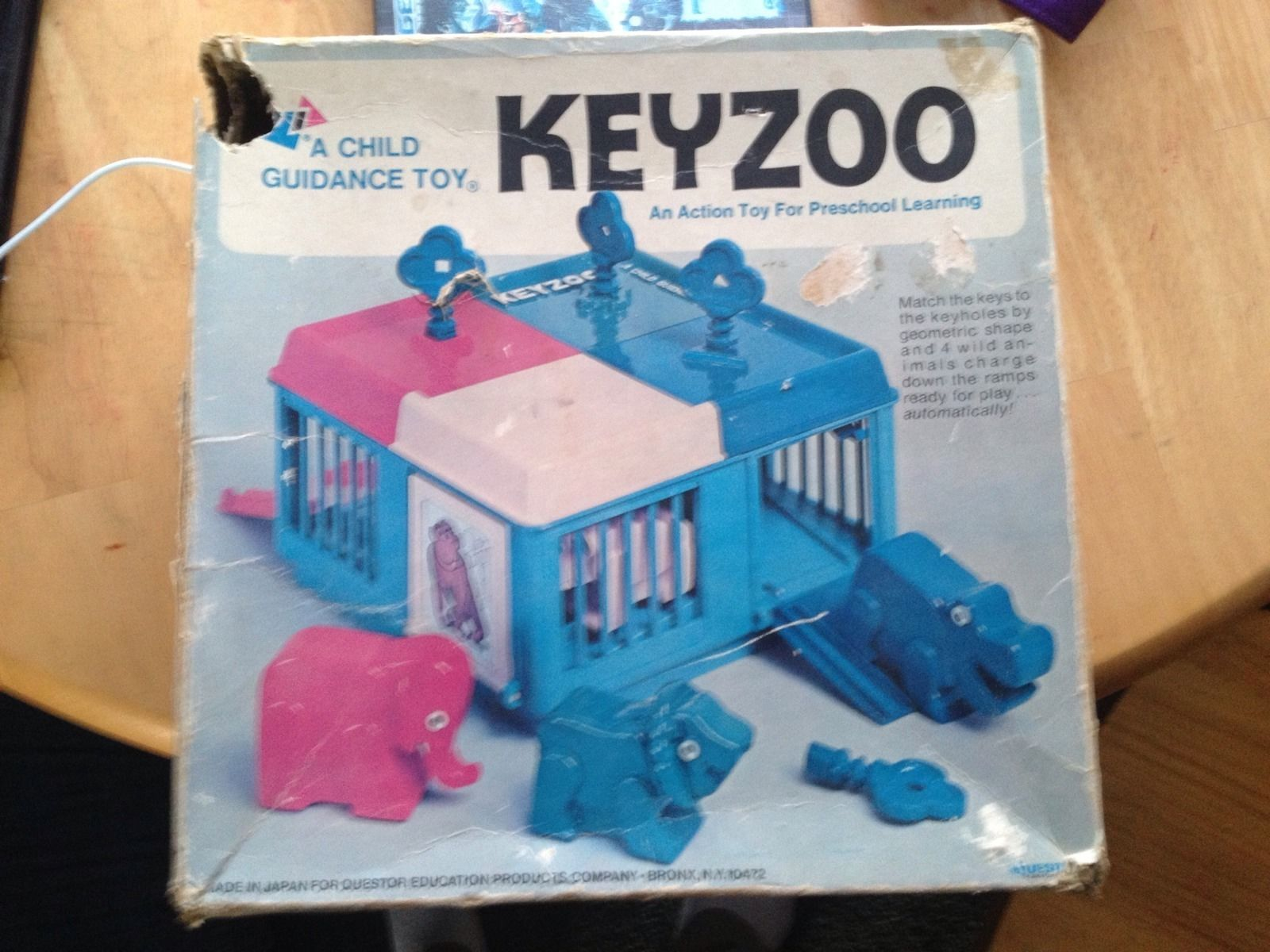 90s car toys  Vintage Keys of Learning Key Zoo by Child Guidance Products Inc