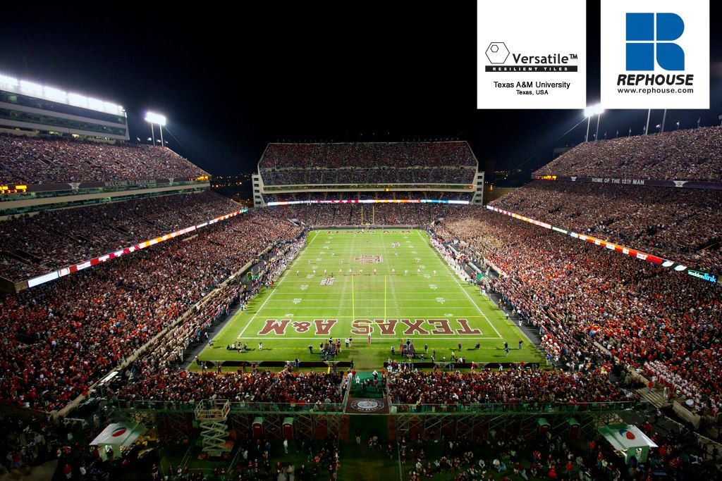 Versatile Modular Safety Rubber Tiles Texas Am University Texas Usa Kyle Field Texas Football Field