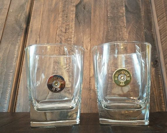 Whiskey Glasses, Shotgun Glasses, Shotgun Shell Whiskey Glasses, Barware,  Barware Gifts,
