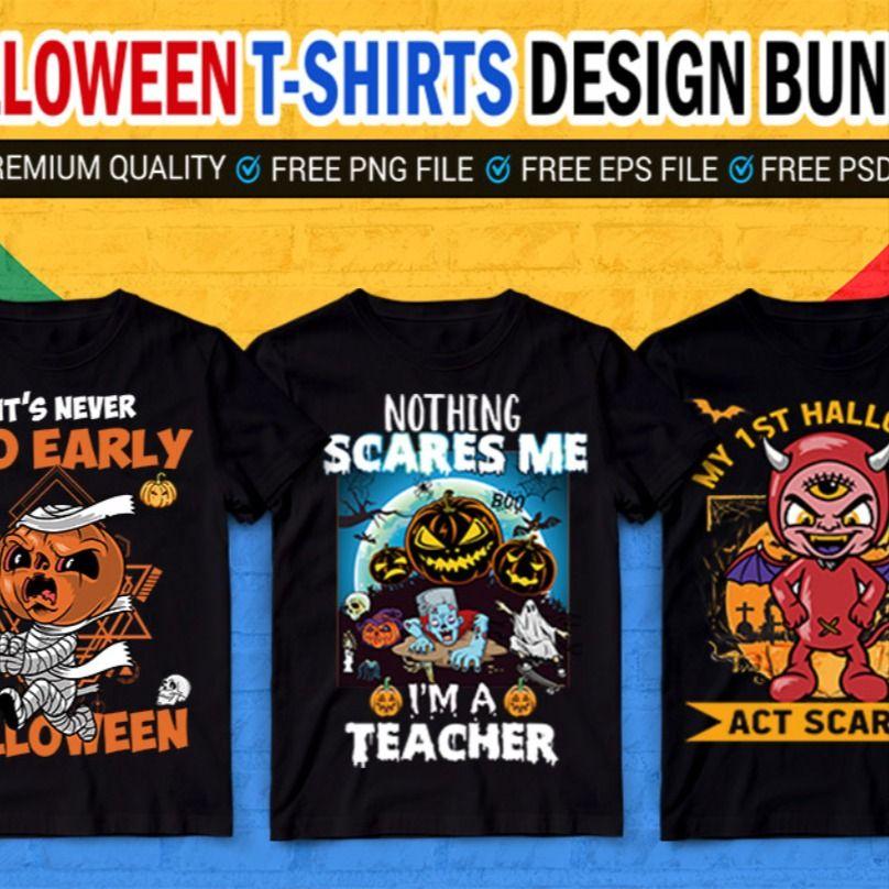 Halloween T-Shirts Design Bundle . #tshirt,#tshirtdesign,#halloween