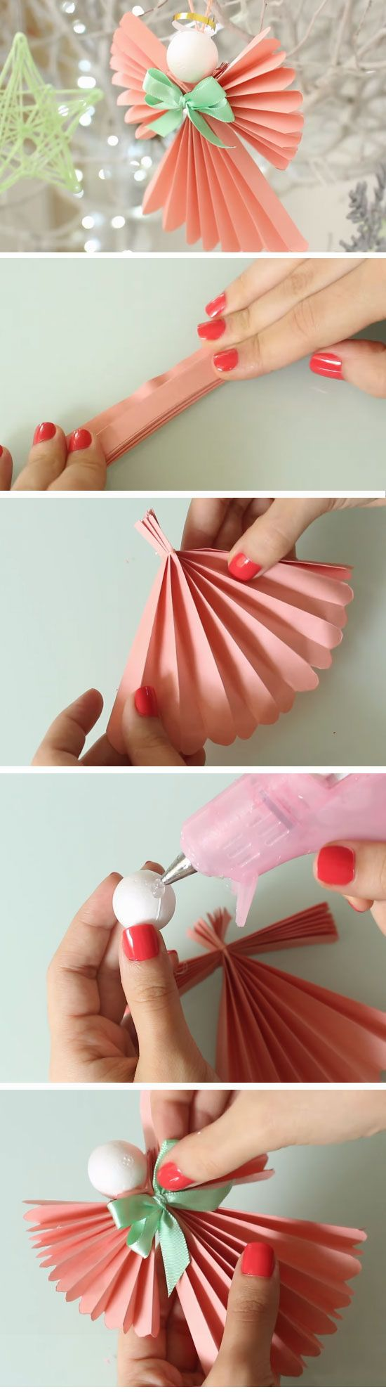 Diy christmas crafts for the home diy christmas paper angels diy christmas crafts for the home jeuxipadfo Images