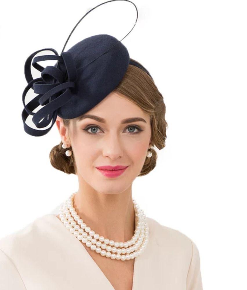 7a8766b3b HAT WOMEN PILLBOX Vintage Fascinator Royal English Hair Dress ...