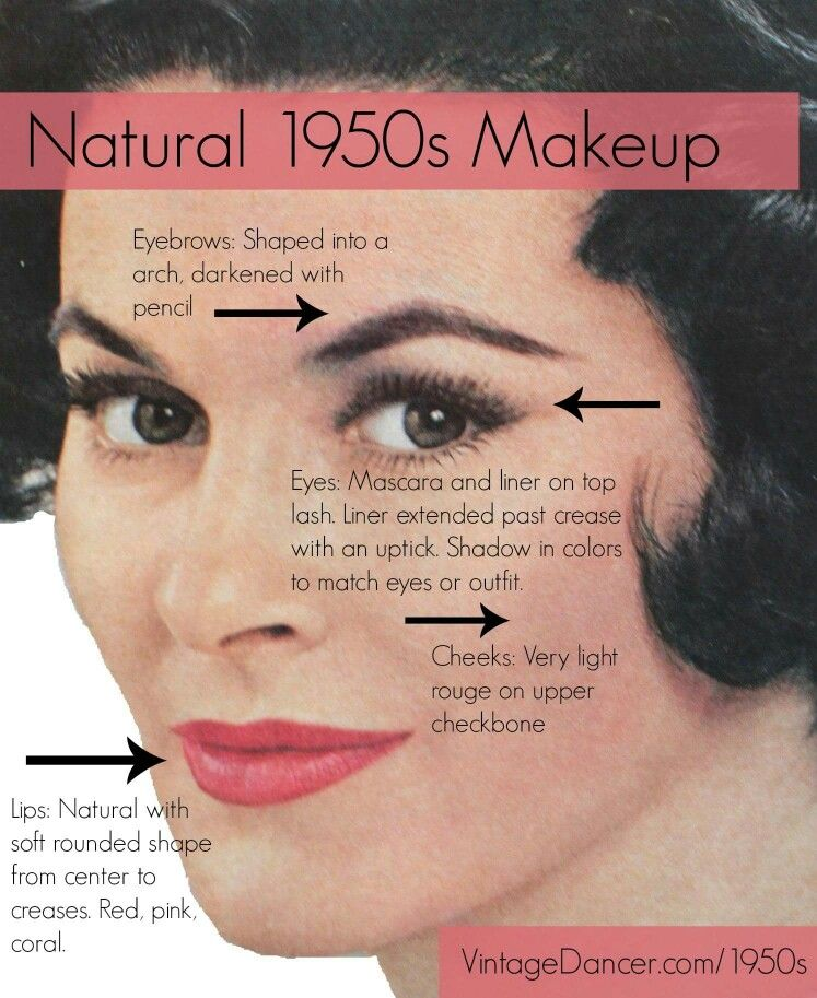 Natural 1950s Make Up Makeup history, 1950s makeup